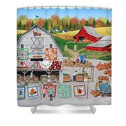 Autumn Quilts Shower Curtain by Wilfrido Limvalencia