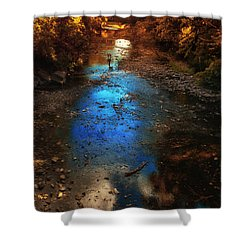 Autumn Reflections On The Tributary Shower Curtain by Thomas Woolworth