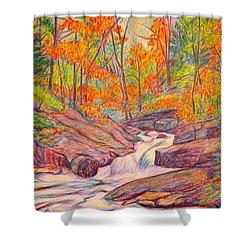 Autumn Rush Shower Curtain by Kendall Kessler