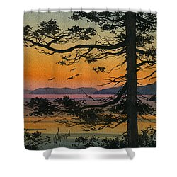Autumn Shore Shower Curtain by James Williamson