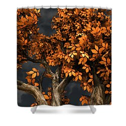 Autumn Storm Shower Curtain by Cynthia Decker