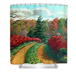 Autumn Trail Shower Curtain by Hanne Lore Koehler