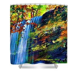 Autumns Calm Shower Curtain by Darren Fisher