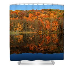 Autumns Colorful Reflection Shower Curtain by Karol Livote