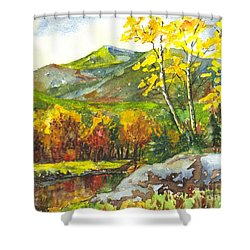 Autumn's Showpiece Shower Curtain by Carol Wisniewski