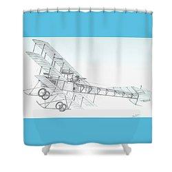Avro Triplane Shower Curtain by Rick Bennett