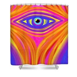 Awakening The Desert Eye Shower Curtain by Daina White