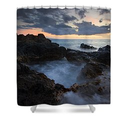 Awash Shower Curtain by Mike  Dawson