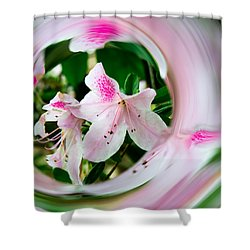 Azalea Swirl Shower Curtain by Penny Lisowski