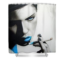 'azure Addiction' Shower Curtain by Christian Chapman Art