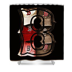 B For Bosox - Vintage Boston Poster Shower Curtain by Joann Vitali