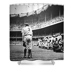 Babe Ruth Poster Shower Curtain by Gianfranco Weiss