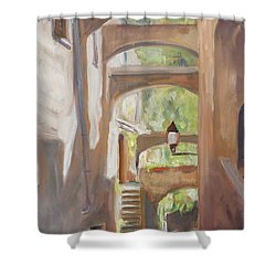 Back Alley Shower Curtain by Marco Busoni