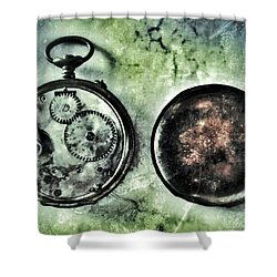 Back In Time Shower Curtain by Marianna Mills