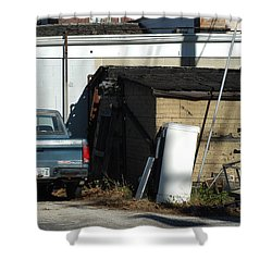 Back Of The Line Shower Curtain by Joseph Yarbrough