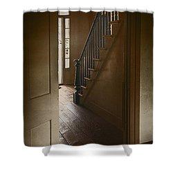 Back Stairway Shower Curtain by Margie Hurwich
