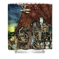 Back To Your Roots Shower Curtain by Colin Thompson