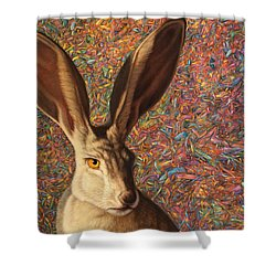 Background Noise Shower Curtain by James W Johnson