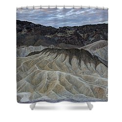 Badlands At Sunrise. Death Valley Shower Curtain by Juli Scalzi