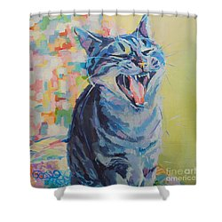 Bah Humbug Shower Curtain by Kimberly Santini