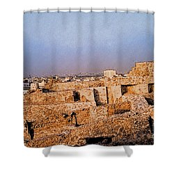 Bahrain Fort  Shower Curtain by First Star Art