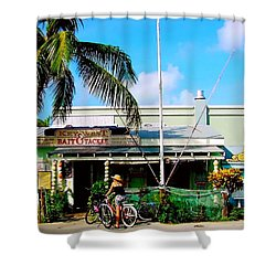 Bait And Tackle Key West Shower Curtain by Iconic Images Art Gallery David Pucciarelli