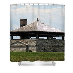 Bake House At Old Fort Niagara Shower Curtain by Rose Santuci-Sofranko
