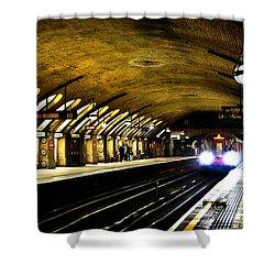 Baker Street London Underground Shower Curtain by Mark Rogan