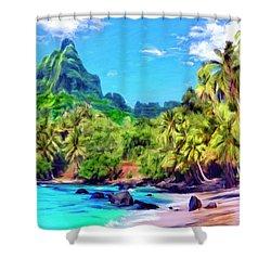 Bali Hai Shower Curtain by Dominic Piperata