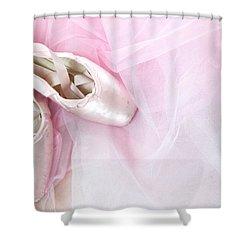 Ballerina Dreams Shower Curtain by Zina Zinchik
