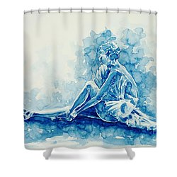 Ballerina  Shower Curtain by Zaira Dzhaubaeva