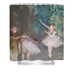 Ballet Rehearsal Shower Curtain by Edgar Degas
