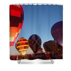 Balloon-glow-7783 Shower Curtain by Gary Gingrich Galleries