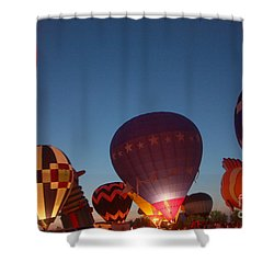 Balloon-glow-7808 Shower Curtain by Gary Gingrich Galleries