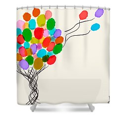 Balloons For Sale Shower Curtain by Anita Lewis