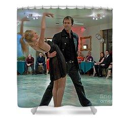 Ballroom Dancers Shower Curtain by Valerie Garner