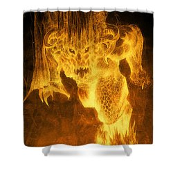 Balrog Of Morgoth Shower Curtain by Curtiss Shaffer