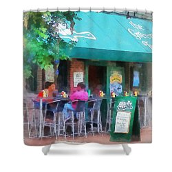 Baltimore - Happy Hour In Fells Point Shower Curtain by Susan Savad