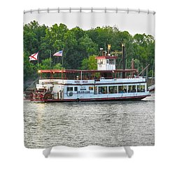Bama Belle On The Black Warrior River Shower Curtain by Ben Shields