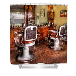 Barber - The Barber Shop II Shower Curtain by Mike Savad