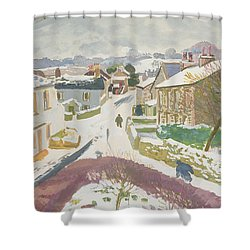 Barbon In The Snow Shower Curtain by Stephen Harris