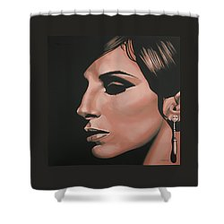 Barbra Streisand Shower Curtain by Paul Meijering