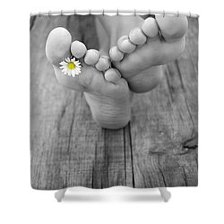 Barefoot Shower Curtain by Aged Pixel