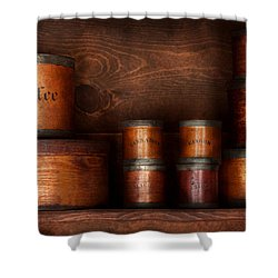 Barista - Coffee - Coffee And Spice Shower Curtain by Mike Savad