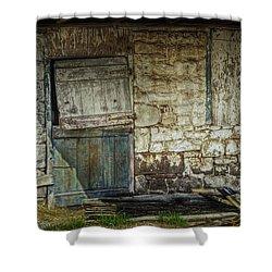 Barn Door Shower Curtain by Joan Carroll