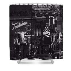 Bars On Broadway Nashville Shower Curtain by Dan Sproul