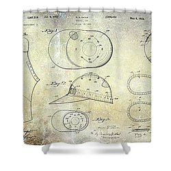 Baseball Patent Panoramic Shower Curtain by Jon Neidert