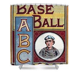 Baseball Abc Shower Curtain by McLoughlin Bros