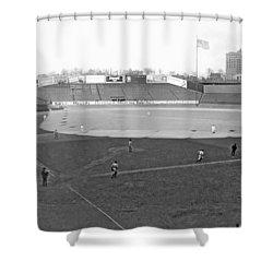 Baseball At Yankee Stadium Shower Curtain by Underwood Archives
