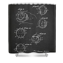 Baseball Training Device Patent Drawing From 1961 Shower Curtain by Aged Pixel
